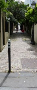 19th arrondissement, Quartier de la Mouzaia, villas, pedestrian street, Paris, France, cobblestone street,