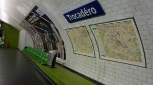 Trocadéro, metro, station, Paris, Fance