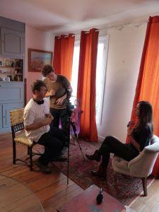 La Pleuresse, Paris, France, filming, short film