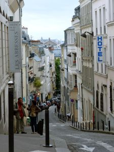 Abbesses, Paris, France, buildings