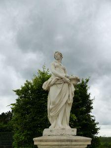 Versailles, Ile-de-France, France, palace, The Palace, gardens, The Grand Trianon, Marie Antoinette's Estate, statue, Le Printemps, spring