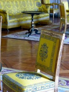Versailles, Ile-de-France, France, palace, The Grand Trianon,  yellow room