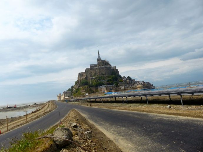 Normandy, France, pilgrimage, abbey, island, causeway