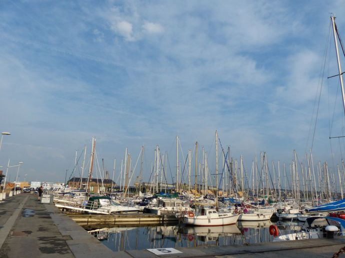 Saint Thomas Gate, Brittany, France, port city, walled city, marina, boats