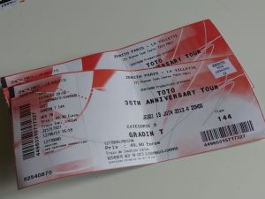 concert, 35th Anniversary tour, Zenith Center, Paris, France