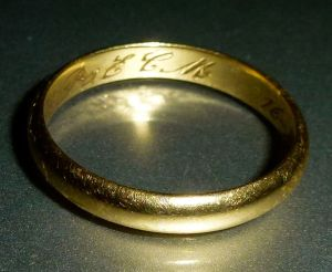 Wedding Band, Gold Band