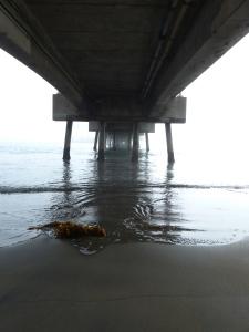 Belmont Veterans Memorial Pier, Long Beach, pier, fog