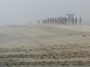 Long Beach, beach, fog