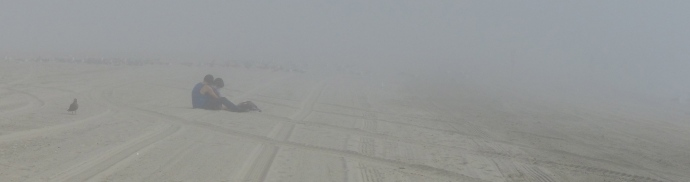 Long Beach, beach, fog, love